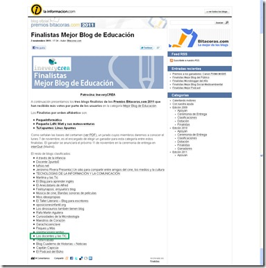 Premios Bitácoras 2011_Seleccionado